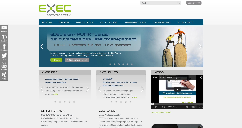 EXEC Software Team  Software auf den PUNKT gebracht. Jetzt informieren