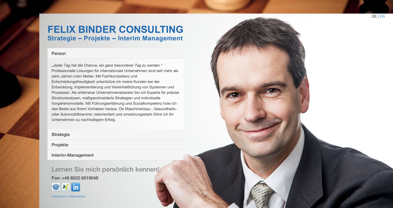 Felix Binder   Strategie  Projekte  Interim Management