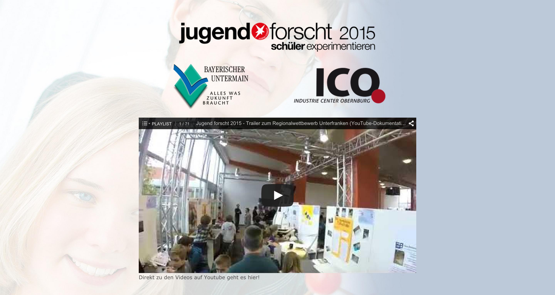 Jugend forscht  Regionalwettbewerb Unterfranken  2015   Industrie Center Obernburg